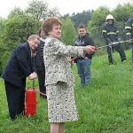Skupaj sta dokazala svoje gasilsko znanje